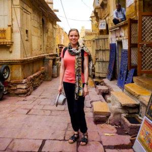 Sarah Alexander in India
