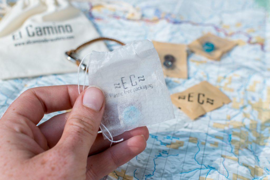 Close up of El Camino plastic free packaging